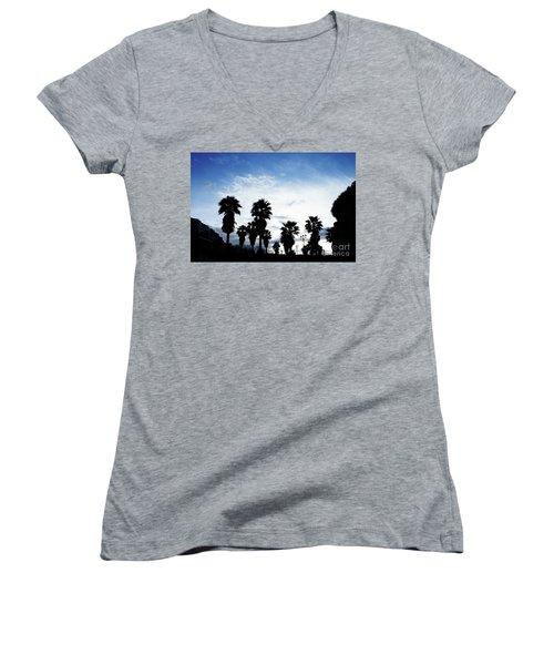 Silhouette In Tropea Women's V-Neck T-Shirt (Junior Cut) by Ana Mireles