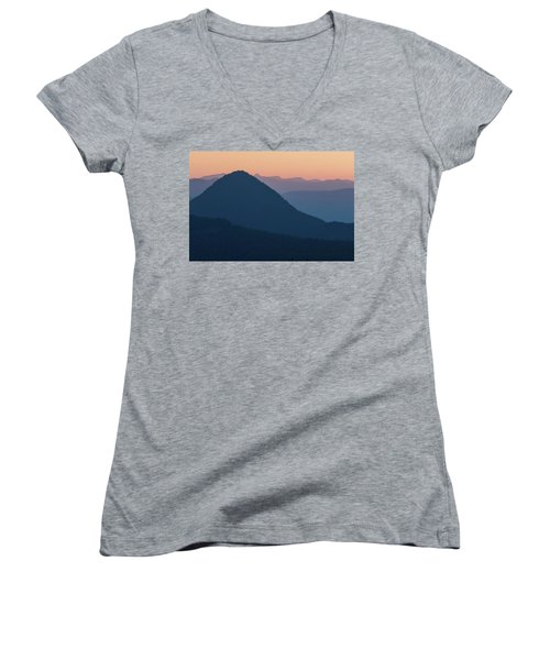 Silhouettes At Sunset, No. 2 Women's V-Neck
