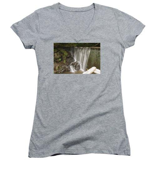 Silk Cascade Women's V-Neck T-Shirt
