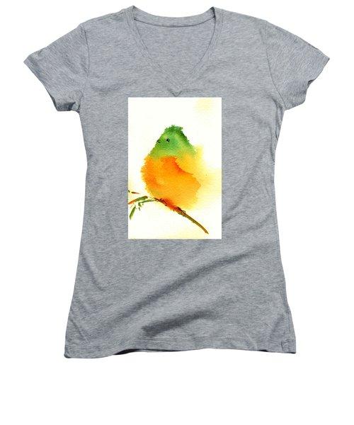 Silly Bird  #3 Women's V-Neck T-Shirt (Junior Cut) by Anne Duke