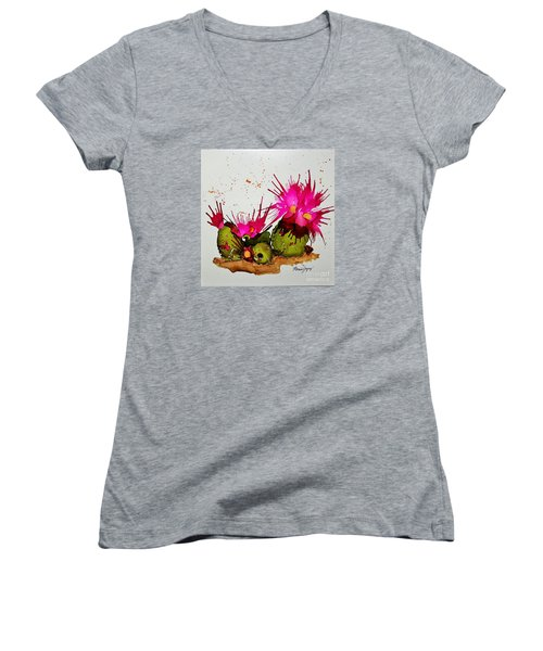 Silly Cactus Women's V-Neck (Athletic Fit)