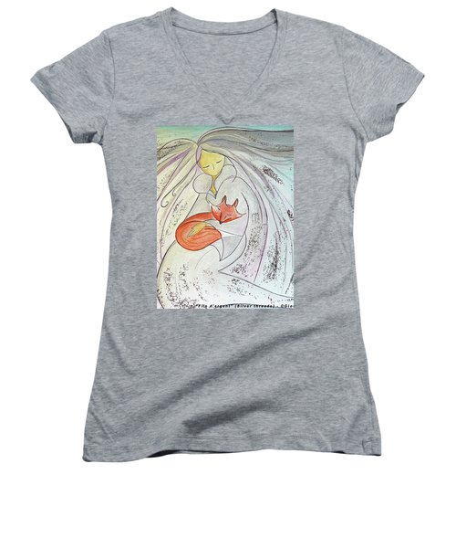 Silver Threads Women's V-Neck T-Shirt