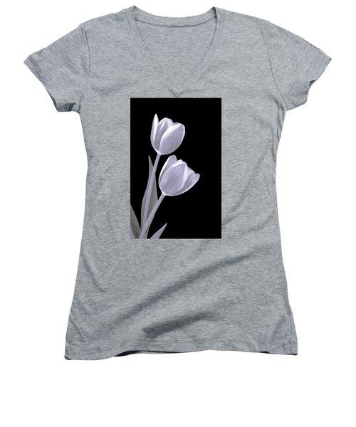 Silver Tulips Women's V-Neck
