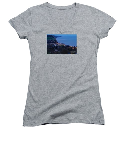 Women's V-Neck T-Shirt (Junior Cut) featuring the photograph Simouth From A High. by Gary Bridger