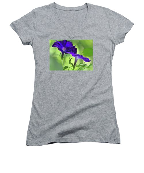 Simple And Undemanding Women's V-Neck T-Shirt