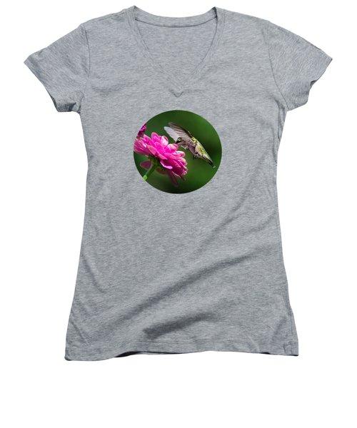 Simple Pleasure Hummingbird Delight Women's V-Neck T-Shirt