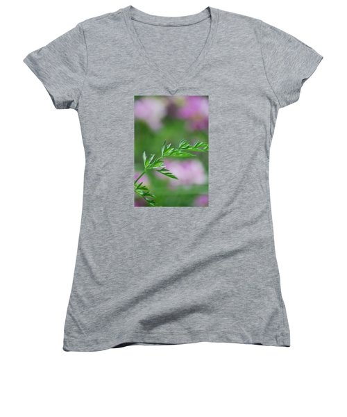 Women's V-Neck T-Shirt (Junior Cut) featuring the photograph Simplicity by Ramona Whiteaker