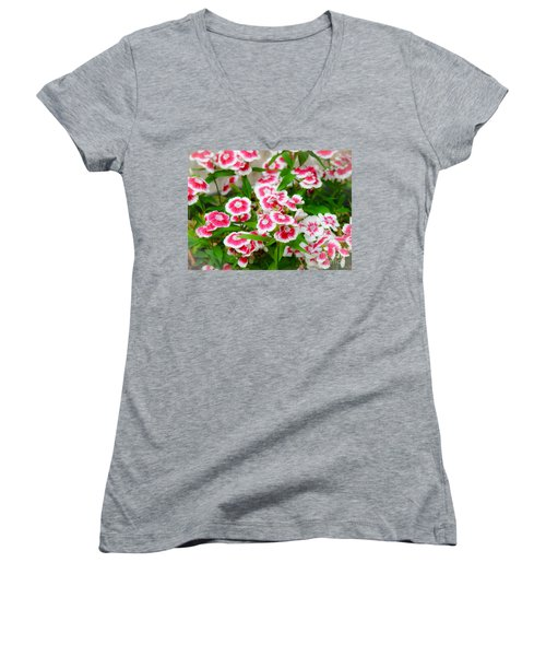 Women's V-Neck T-Shirt (Junior Cut) featuring the photograph Simply Flowers by Rand Herron