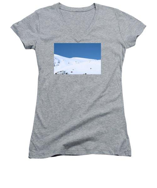 Women's V-Neck T-Shirt (Junior Cut) featuring the photograph Simply Winter by Juli Scalzi