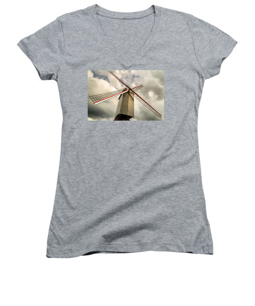 Sint Janshuismolen Windmill 2 Women's V-Neck