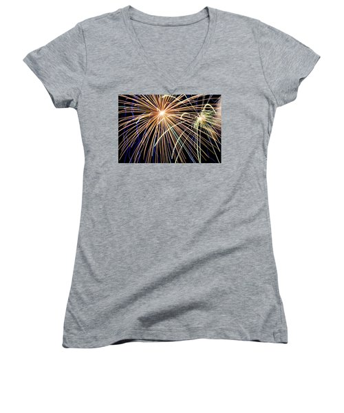 Sister Bay Fireworks Women's V-Neck