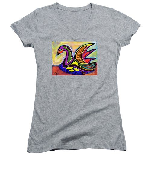 Sitting Women's V-Neck
