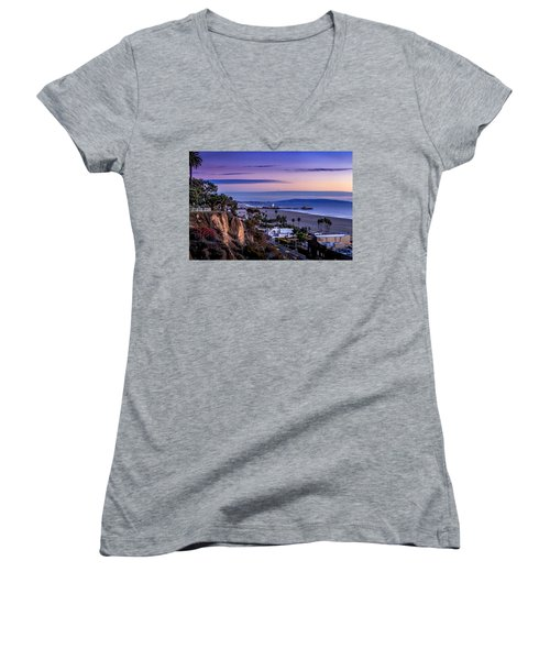 Sitting On The Fence - Santa Monica Pier Women's V-Neck (Athletic Fit)