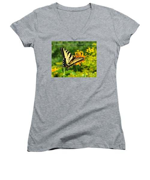 Sitting Pretty Giving Women's V-Neck (Athletic Fit)
