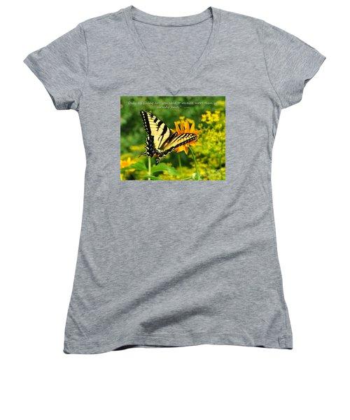 Sitting Pretty Giving Women's V-Neck T-Shirt