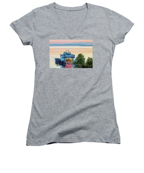 Six O'clock Ferry.2 Women's V-Neck T-Shirt