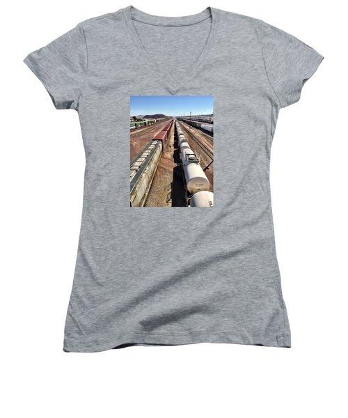 Six Trains Women's V-Neck T-Shirt