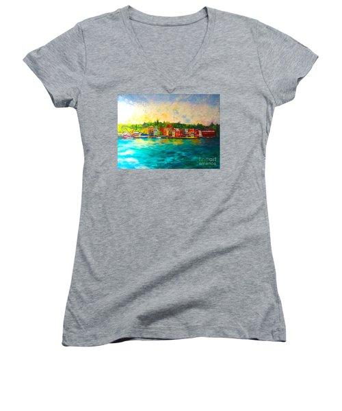 Skaneateles Women's V-Neck T-Shirt
