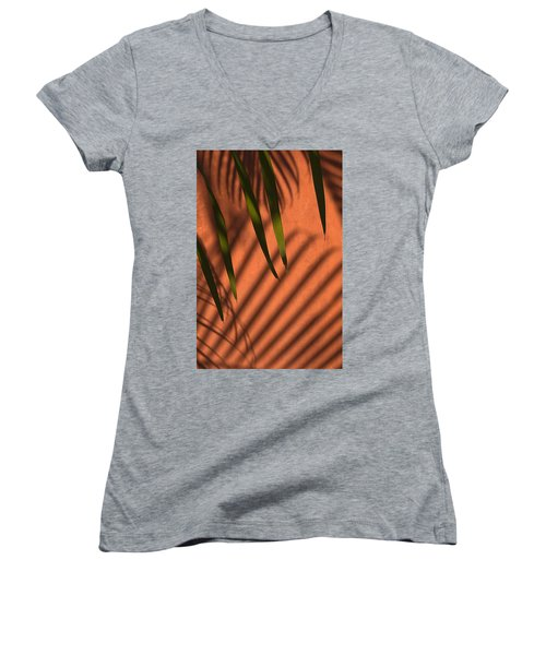 Skc 5521 Stripes Women's V-Neck T-Shirt