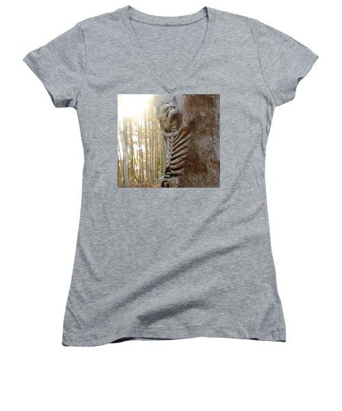 Skeleton Tree Women's V-Neck