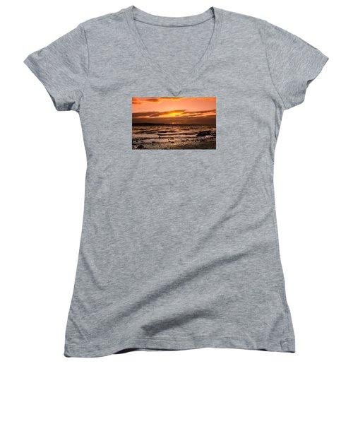 Skerries Women's V-Neck T-Shirt (Junior Cut) by Martina Fagan