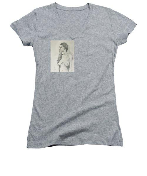Sketch Mary Lying Women's V-Neck T-Shirt