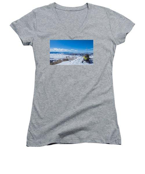 Ski Patrol Women's V-Neck T-Shirt