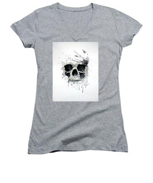 Skull Women's V-Neck T-Shirt