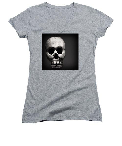 Skull Women's V-Neck (Athletic Fit)