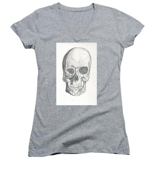 Skull Study 2 Women's V-Neck