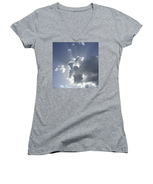 Sky Elephant And Friends Women's V-Neck