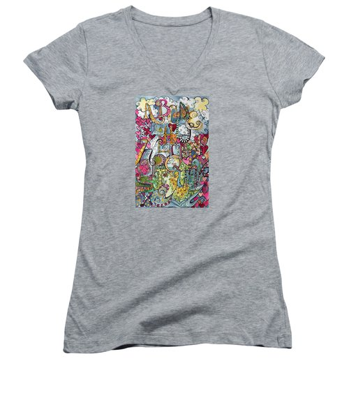 Sky Garden Women's V-Neck T-Shirt