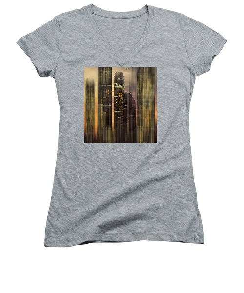 Sky Scrapers Women's V-Neck T-Shirt (Junior Cut)