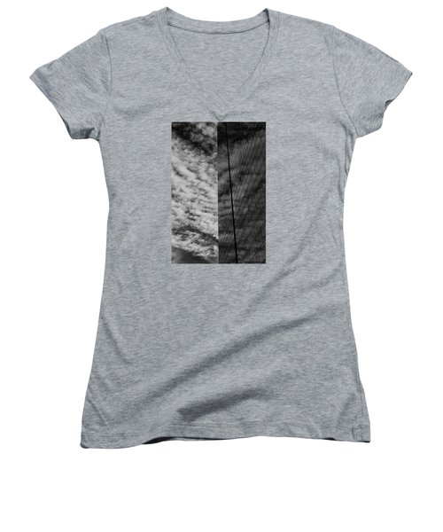 Women's V-Neck T-Shirt (Junior Cut) featuring the photograph Sky Show by Lora Lee Chapman