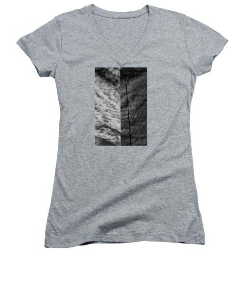 Sky Show Women's V-Neck T-Shirt (Junior Cut) by Lora Lee Chapman