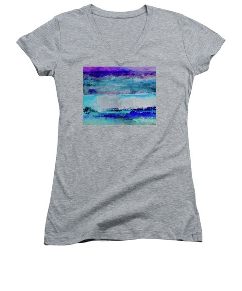 Sky Striations Women's V-Neck