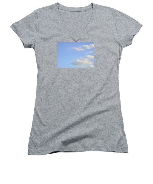 Sky Women's V-Neck T-Shirt (Junior Cut) by Wanda Krack