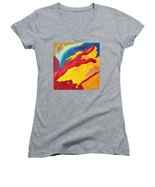 Sky Women's V-Neck T-Shirt