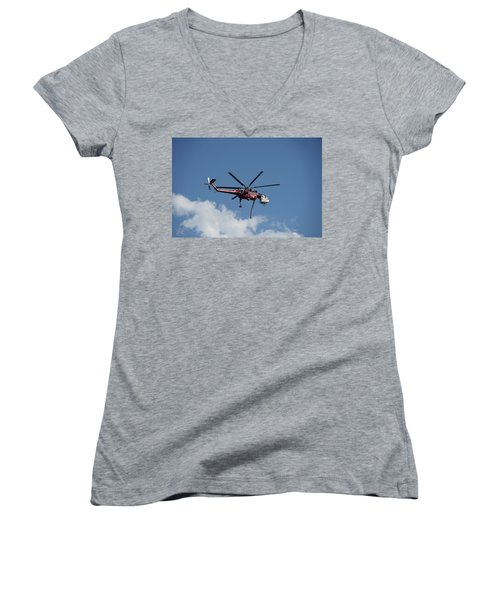 Skycrane Works The Red Canyon Fire Women's V-Neck
