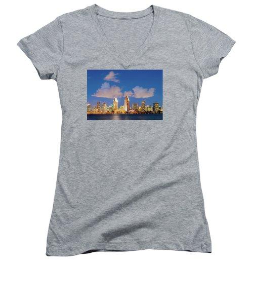 Skyline In The Wind Women's V-Neck