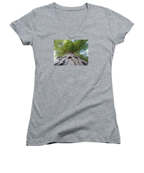 Women's V-Neck T-Shirt (Junior Cut) featuring the photograph Skyward by Teresa Schomig