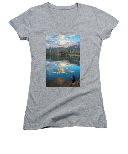 Slack Weiss Autumn Women's V-Neck T-Shirt