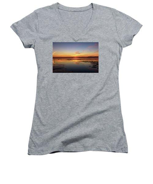 Touching The Golden Cloud Women's V-Neck T-Shirt