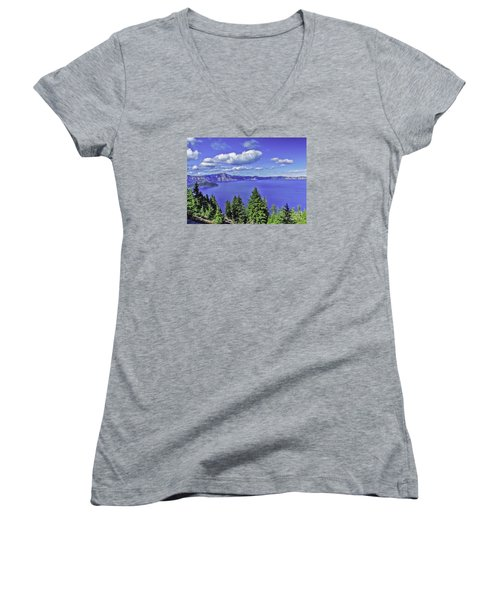Women's V-Neck T-Shirt (Junior Cut) featuring the photograph Sleeping Wizard by Nancy Marie Ricketts
