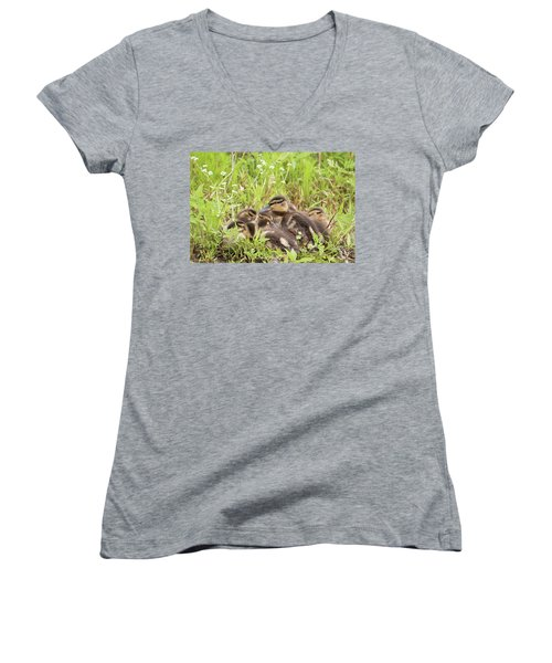 Sleepy Ducklings Women's V-Neck