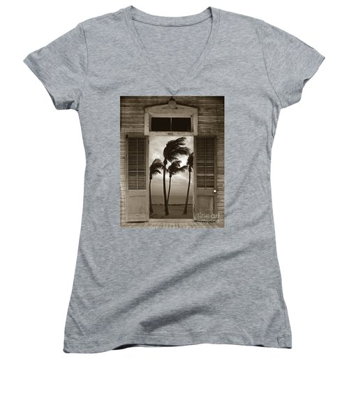 Women's V-Neck T-Shirt (Junior Cut) featuring the photograph Slip Away To Paradise by John Stephens
