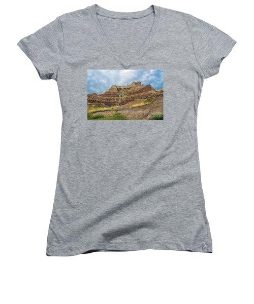 Slow Erosion Women's V-Neck T-Shirt