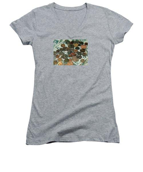 Small Change Women's V-Neck T-Shirt