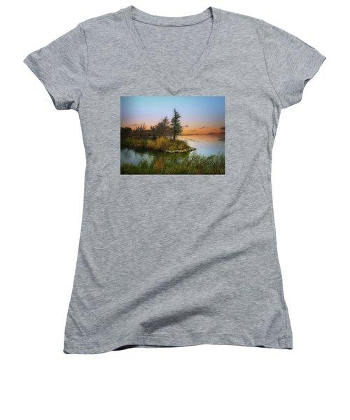 Small Island Women's V-Neck T-Shirt