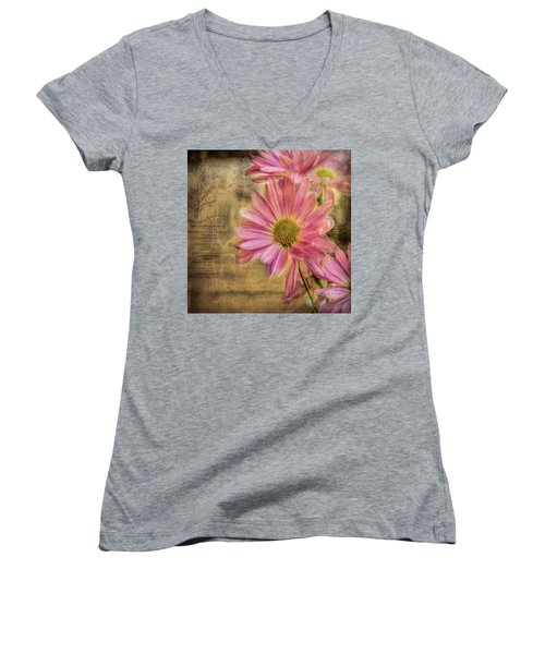 Women's V-Neck T-Shirt featuring the photograph Small Perfections by Bellesouth Studio